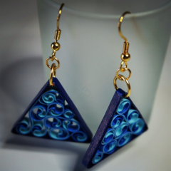 Ocean Blue Quilling Earrings
