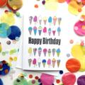 Happy Birthday Iecream Card. Free Post.
