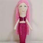 Mermaid Rag Doll- Pink - FREE POSTAGE AUST