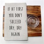 DRY AGAIN Linen Tea Towel in Oatmeal