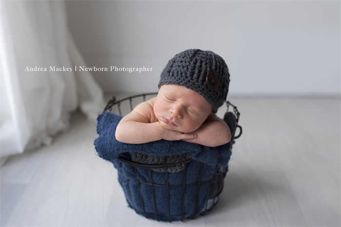 4897cf191c0 Grey Woven Beanie with Wooden Button   Hat   Newborn   Photography Prop