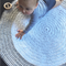 Floor Rug, Round, Black, White + Grey 1 metre - Many colours & sizes available