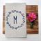 Personalised Monogram Linen Tea Towel in Oatmeal