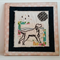Black dog embroidery
