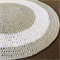 Floor Rug, Round, White + Grey 1 metre - Many colours & sizes available