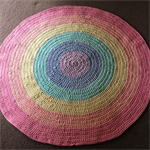 Floor Rug, Round, Rainbow 1 metre - Many colours & sizes available