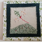 Kite on a hill embroidery