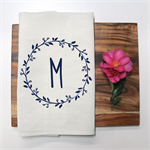 Personalised Monogram Linen Tea Towel in Off White