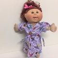 Dolls/Teddies Pajamas with Matching Dressing Gown