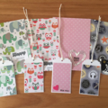 SAVE $ + free Aus postage - Set of 4 child/teen birthday cards incl gift tags.