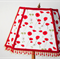 Gorgeous lampshade with white and red poppy flowers and poppy red beaded trim.