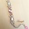 Lightweight Bracelet - Rose,Clear - Swarovski - Steel Color - Adjustable - BR034