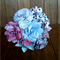 Beautiful bunch of pastel and black paper flowers