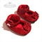 Red baby shoes, Dorothy wizard of Oz, Sparkly Mary Jane's, Handmade girl shoes