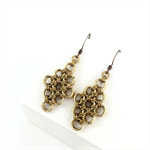 Gold plated diamond shaped Chainmaille Earrings