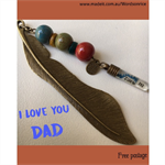I LOVE YOU DAD bookmark