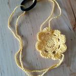 Crochet Daffodil Yellow Posy Flower Headband Fascinator