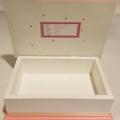 Pink & White Keepsake Trinket Treasure Jewellery  Memory Wooden Box