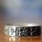 Men's Wedding Band, Customised Oxidized Silver Flower & Dot Ring
