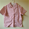 Boys large - Red & white elephant print collared short sleeved cotton shirt