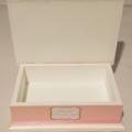 Girl's Baptism/Christening Keepsake Memory Treasure Trinket Wooden Box