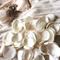 Ivory Cream Fabric Rose Flower Petals Washable Wedding Decor Flower Girl