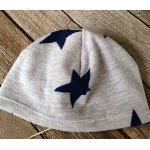 Navy star fleece beanie