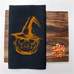 Halloween Linen Tea Towel in Black
