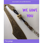 WE LOVE YOU bookmark