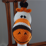 Grayson: hand crocheted giraffe: Unisex, washable, soft, cuddly, baby shower