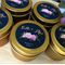 WEDDING FAVOURS x 100    Soy Candles   Petite 2oz Tins   Gold or Silver