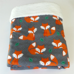 Modern Baby Blanket - Foxes