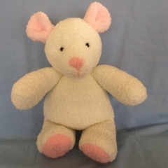 Bianca - Hand knitted bear