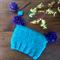 Toddler beanie | Turquoise beanie | Pom pom beanie