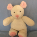 Bianca - Hand knitted bear