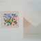 Embroidered Liberty print greetings card