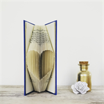 Shabby Chic Heart - Folded book art keepsake