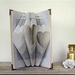 Three Hearts - Folded book art keepsake