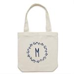 Personalised Monogram Tote Bag in Cream