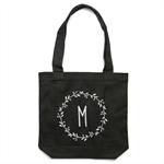 Personalised Monogram Tote Bag in Black