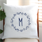 Personalised Gumnut Wreath Cushion Cover in Off White Linen
