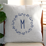 Personalised Gumnut Wreath Cushion Cover in Oatmeal Linen