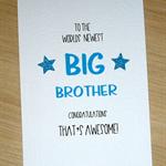 Big Brother / Big Sister - new sibling card