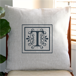 Personalised Monogram Cushion Cover in Oatmeal Linen