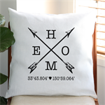 Personalised HOME Cushion Cover in Off White Linen