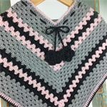 Pure Wool Crochet Poncho |  3 - 4 Years | Girl | Hand Crocheted | Ready to Post