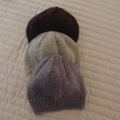 SIZE 3-4 :Hand knitted cardigan dark brown: boy, washable