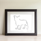 French Bulldog Art, French Bulldog Drawing, Modern Art, Gifts for Dog Lovers,