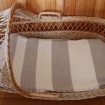 Crochet Baby Blanket / 100% Cotton / Latte / Parchment / Newborn / Soft