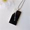MONOCHROME LOVE - black and white original resin art pendant necklace